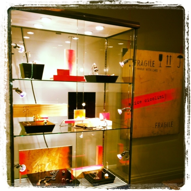 Neon and black Jewellry cabinet